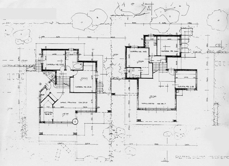 Pianta massimo allegro architetto - Pianta casa bifamiliare ...